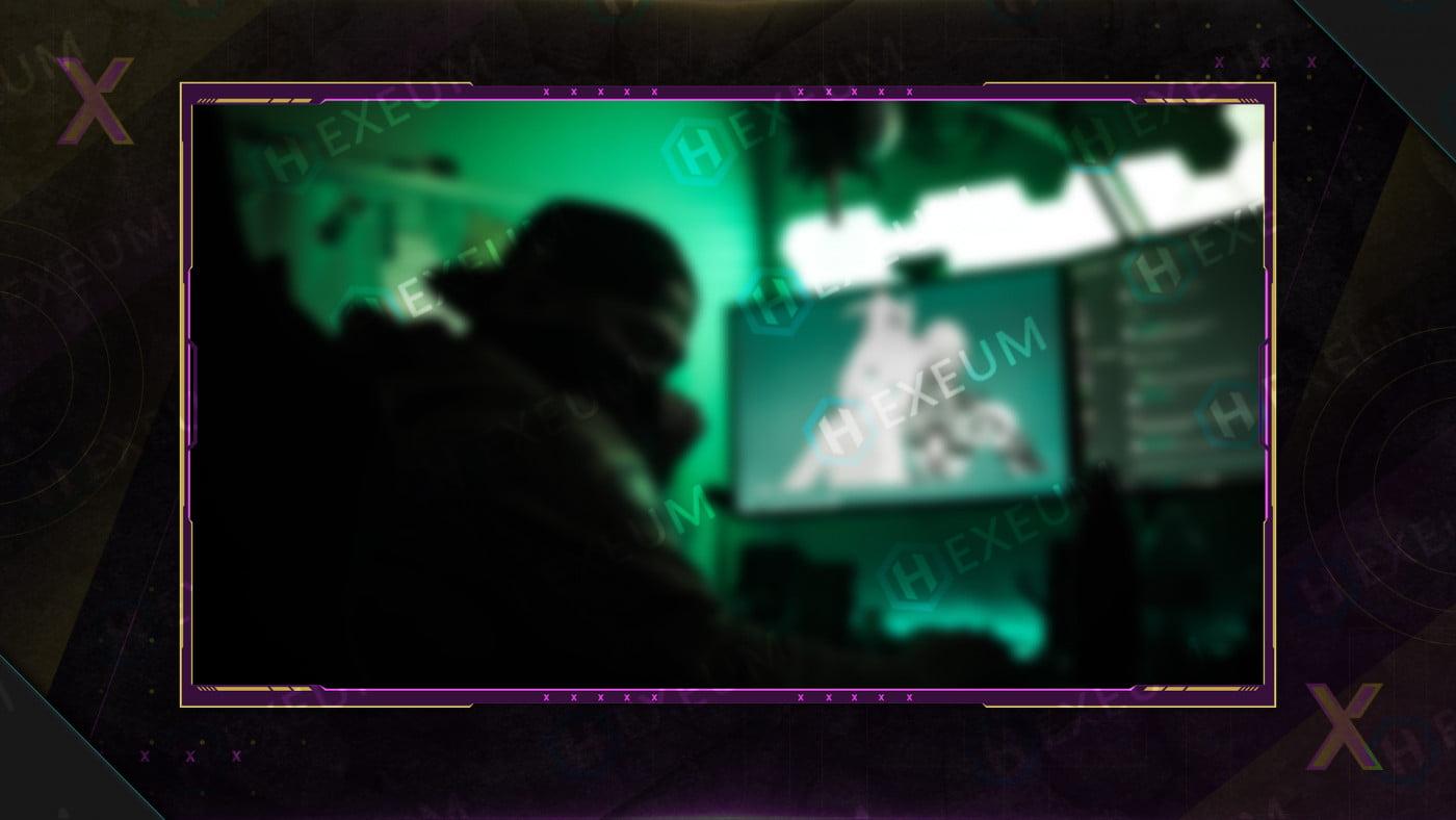 multicolored webcam overlay