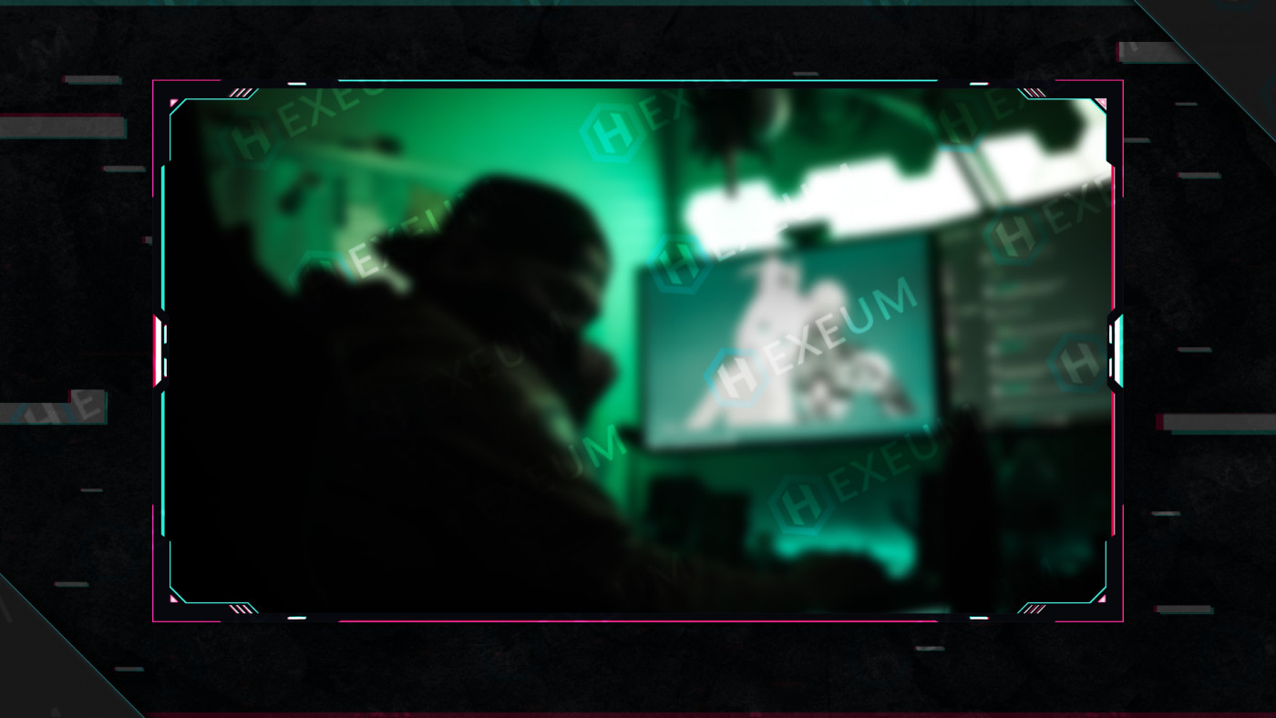 glitch webcam overlay