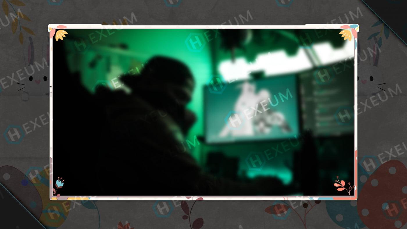 easter webcam overlay