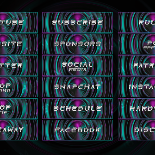 simple twitch panels