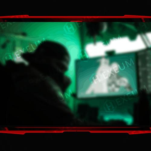 red webcam overlay