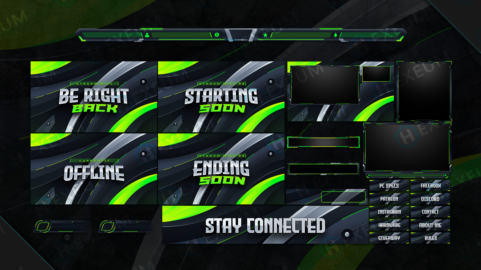 Clean Twitch Overlay