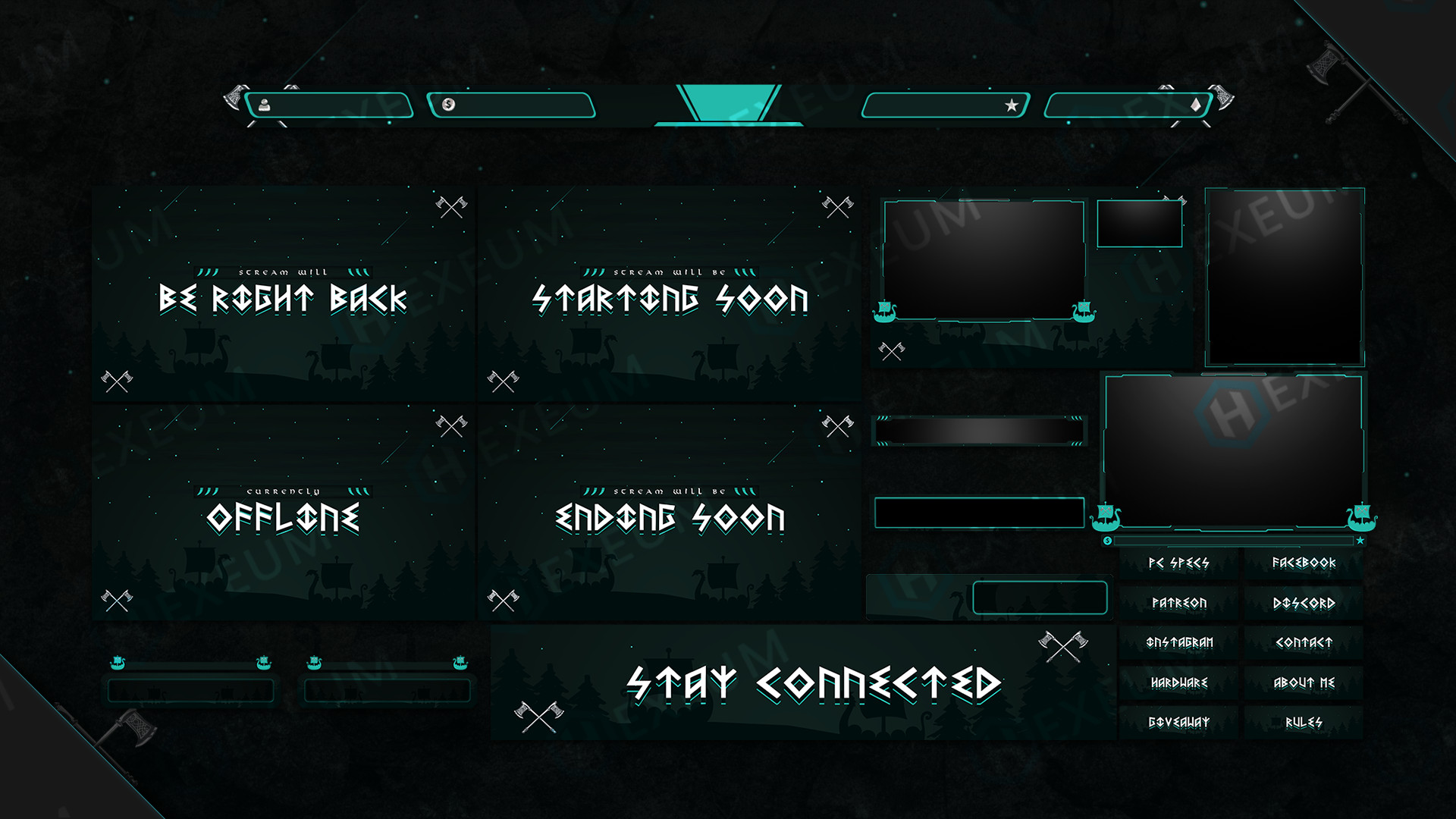 Ancient Twitch Overlay