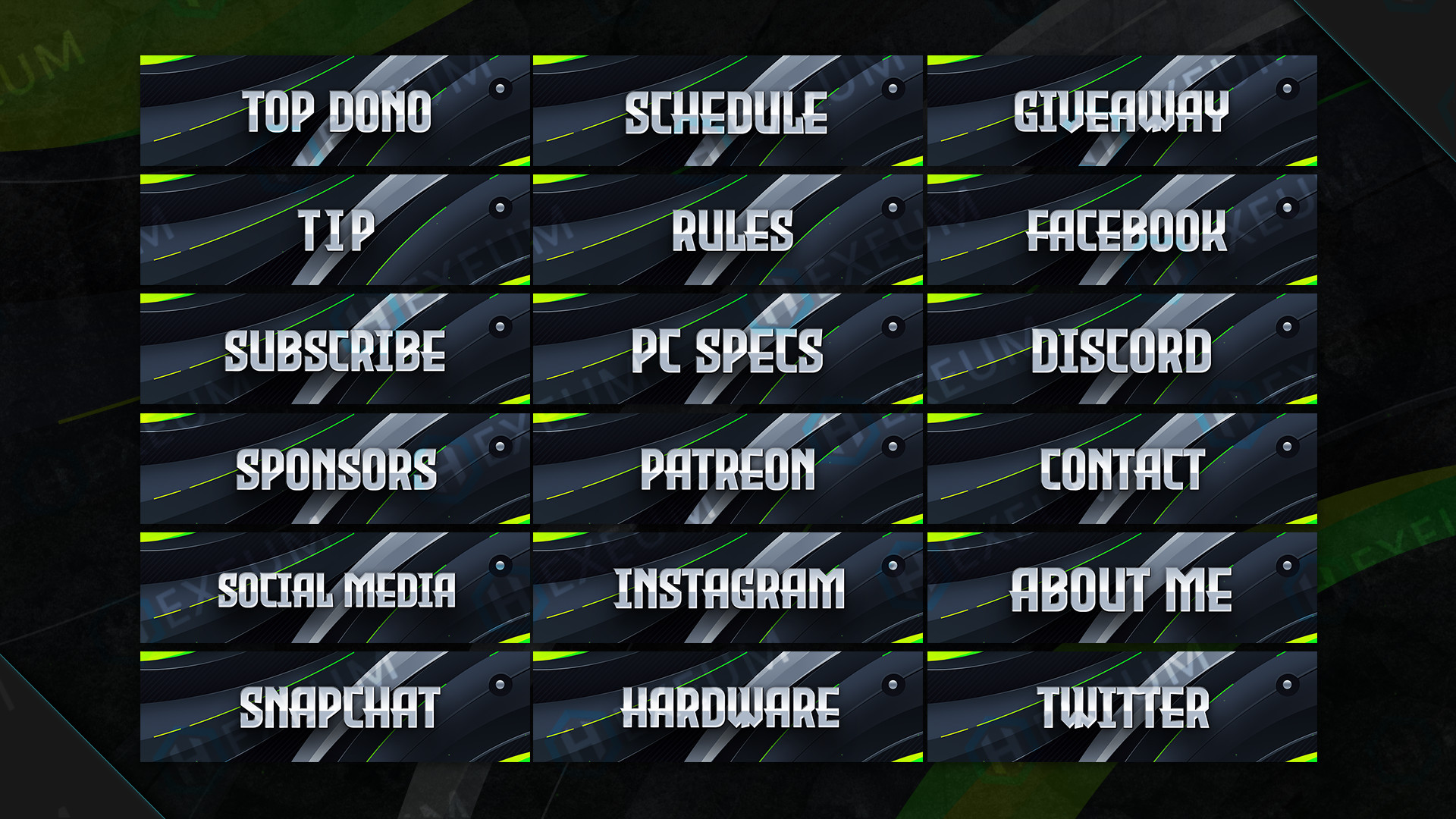 Clean Twitch Panels