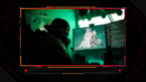 Neon Webcam Overlay