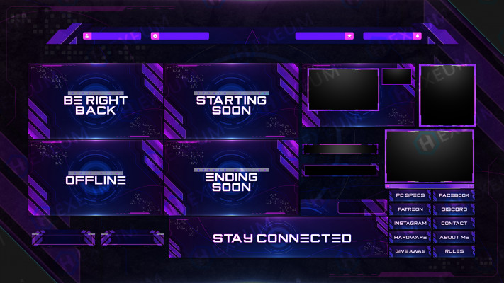 purple stream Overlay template