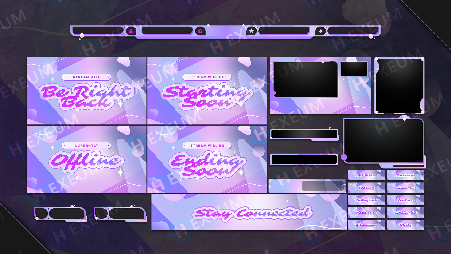 Dreamy Pink Twitch Overlay