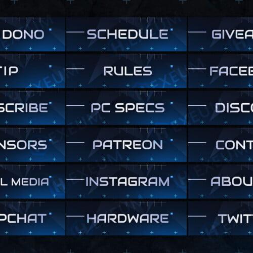 Minimalist Twitch Panels