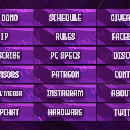 Vibrant Twitch Panels