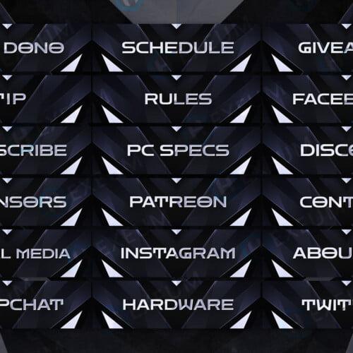 Black Twitch Panels