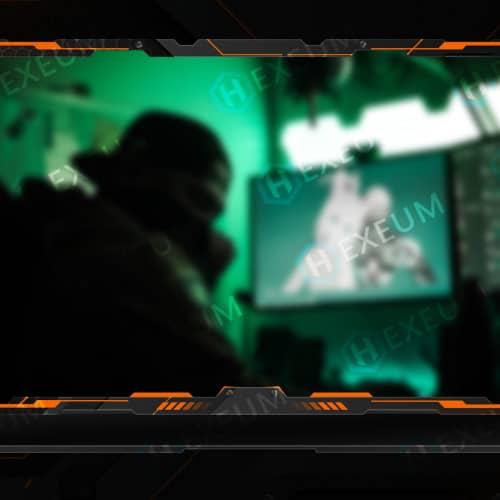 Futuristic Metallic Webcam Overlay