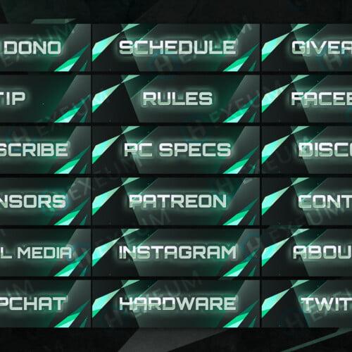 free green twitch panels