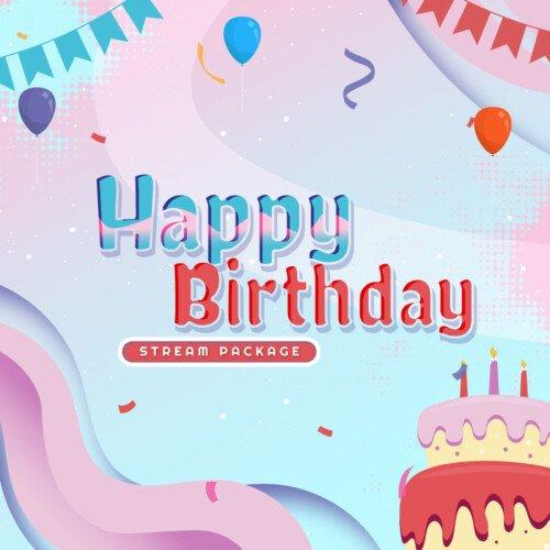 Happy Birthday Stream Overlay Thumbnail
