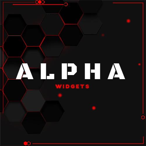 Alpha Red Streamlabs Widgets Thumbnail