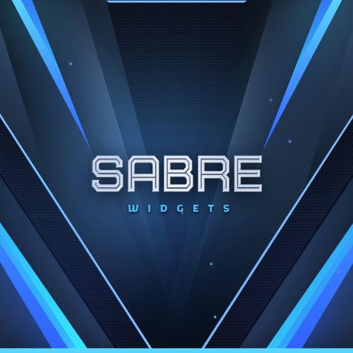 Sabre Blue Streamlabs Widgets Thumbnail