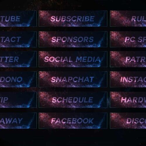 Luminal Particle Twitch Panels
