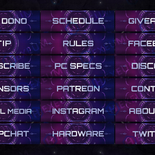 Neon Twitch Panels