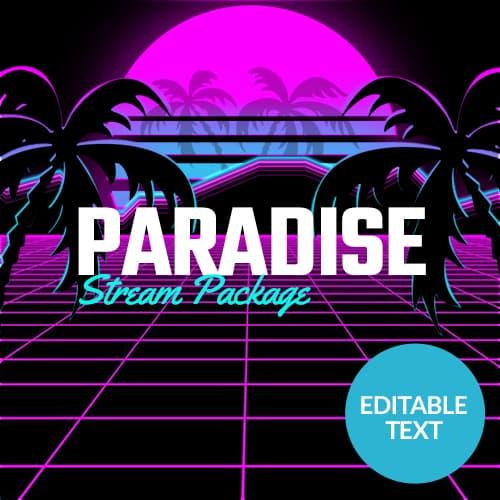 Paradise Synthwave Stream Overlay Thumbnail