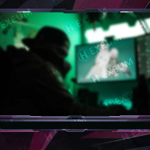 Pink Webcam Overlay