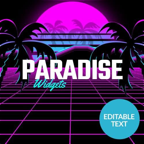 Paradise Synthwave Streamlabs Widgets Thumbnail
