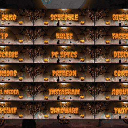 Halloween Twitch Panels