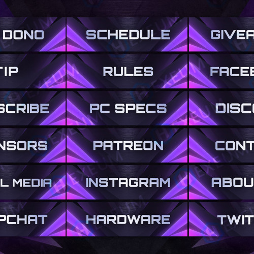 Impulse Purple Twitch Panels