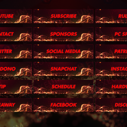 Inferno Particle Twitch Panels